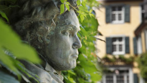 Beethoven statue in Bonn, the city of the composer's birth. This year marks his 250th birthday.
