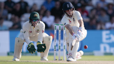 Joe Root takes charge as England dig in.