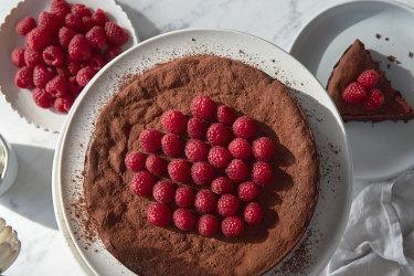 Julia Busuttil Nishimura fallen chocolate cake recipe.