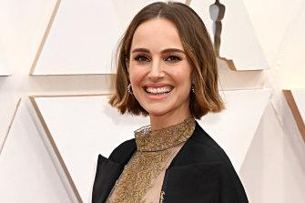 Caped crusade ... Natalie Portman at the Oscars.