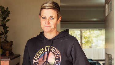 Tanya Lynch, who evacuated her home from floods in Traralgon.