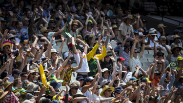 Crowds flocked to the MCG during the Test.