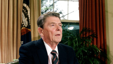 The security assurances were made in secret when Ronald Reagan was US president.