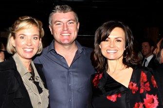 Happier times: Rachel Friend, Stuart MacGill and Lisa Wilkinson at a Harper's Bazaar luncheon in 2011.