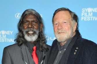 David Gulpilil and Jack Thompson in 2016.