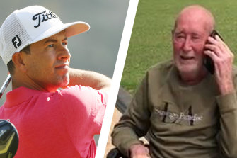 Adam Scott and Ross Campbell shared a phone call at the request of Mr Campbell's family.