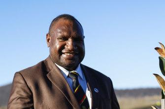 Papua New Guinea Prime Minister James Marape on his trip to Australia.