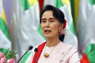 Myanmar's Aung San Suu Kyi.