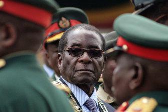 Zimbabwean president Robert Mugabe in 2008.