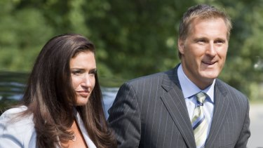 Canada's Maxime Bernier with his girlfriend Julie Couillard in 2007.