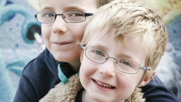 Tom Gray (front) died of DIPG brain cancer when he was 8.
