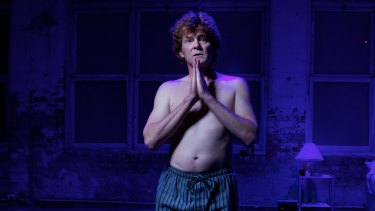Neil Pigot on stage playing Brett Whiteley in Whiteley's Incredible Blue in 2011.