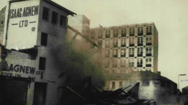 Gelignite was often used in IRA bombings. Here was an explosion in Belfast.
