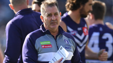 Coach Ross Lyon continues to say results are irrelevant after the Dockers suffered a huge defeat to Geelong.
