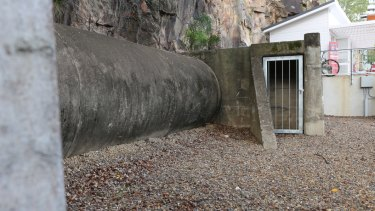 Part of the pipe air-raid shelter in the Howard Smith Wharves Precinct, which is the only one of its kind in Brisbane.