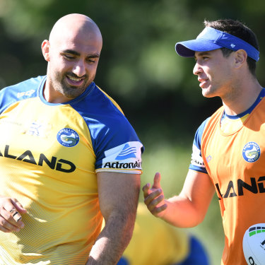 Tim Mannah was a teammate of Mitchell Moses at the Eels and remains on staff there.