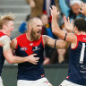 Clayton Oliver, Max Gawn, Michael Hibberd and their Demons brethren stormed to a convincing win over Hawthorn.