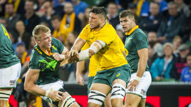 Springboks forward Pieter-Steph du Toit and Wallabies second-rower Adam Coleman go toe-to-toe in the Perth Test of 2017.