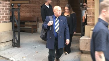 "Gary ""Angry"" Anderson leaving the NSW Supreme Court ."