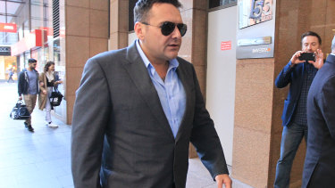 George Alex arriving to be grilled at the Royal Commission into the building industry in 2015.