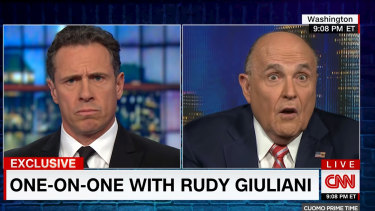 Rudolph W. Giuliani on Cuomo Prime Time with CNN's Chris Cuomo.