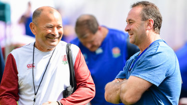 League link: Ricky Stuart joined Eddie Jones' England camp during the World Cup – but the intel exchange would have gone both ways.
