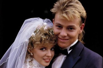 The 1987 wedding of Scott (Donovan) and Charlene (Kylie Minogue) on  <i>Neighbours</i> drew 20 millions British viewers.