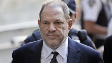Harvey Weinstein arrives to court in New York in June.