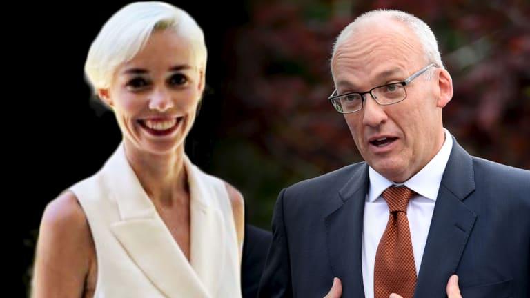 ABC journalist Ashleigh Raper and former Labor state leader Luke Foley.