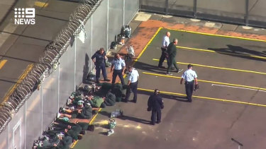 A fight between two inmates at Long Bay Jail was broken up by guards using tear-gas.