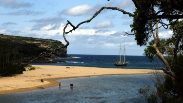 Wattamolla Beach in the Royal National Park.