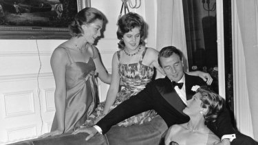 Vanessa Redgrave, left, with her sister Lynn and parents Michael Redgrave and Rachel Kempson in 1960.
