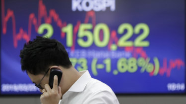 South Korea's sharemarket has been dominated by some very modern stocks.