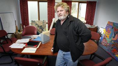 Geoff Clark in the Framlingham Aboriginal Trust boardroom. in 2007.