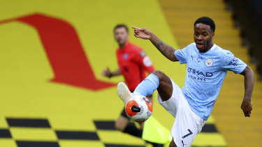 Raheem Sterling was influential again with two first-half goals.