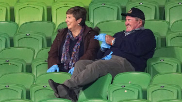 The parents of Storm debutant Chris Lewis report for duty.