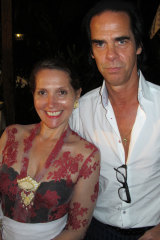 Janet DeNeefe and Nick Cave at the Ubud Writers and Readers Festival in 2012.