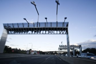 The M2 motorway in Sydney's north.
