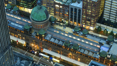 From above: The Queen Victoria Building.