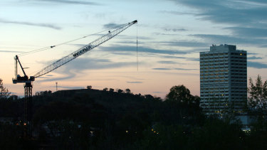 An increasing number of high-rises are being built in Canberra.