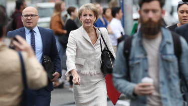 Senator Michaelia Cash arrives at court on Friday,