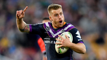 Young bull: Cameron Munster has made himself a Storm star, and given the coach a few grey hairs.