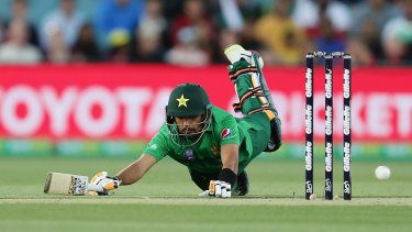 Pakistan captain Babar Azam proved a tough nut for Australia's bowlers to crack.