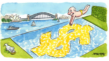 Former IPH chief executive David Griffith and his family has splashed out $5.5 million for a Vaucluse home. Illustration: John Shakespeare
