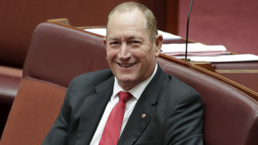 Senator Fraser Anning's political party was approved the same day he was censured by the Senate.