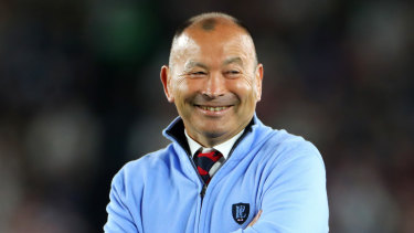 Eddie Jones before last year's Rugby World Cup final in Japan.