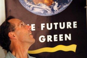 Australian Greens leader and Tasmanian Senate hopeful, Bob Brown.