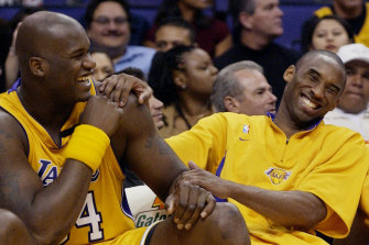 Kobe Bryant, right, pictured with Shaquille O'Neal in 2003.