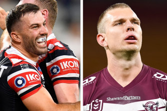 The showdown between James Tedesco and Tom Trbojevic promises intrigue.