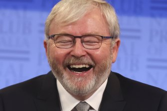 A welcome distraction? We are amused, Kevin Rudd.
